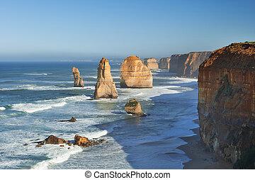 douze apôtres, sur, les, grande route océan, australie