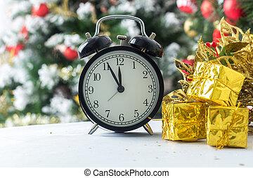 douze, cinq, minutes, horloge