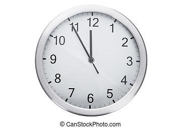 douze, projection, cinq, minutes, horloge