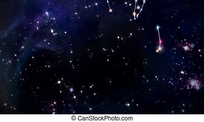 douze, signe étoile, horoscopes, zodiaque, rotation