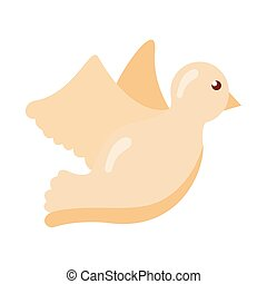 dove bird flying flat style icon