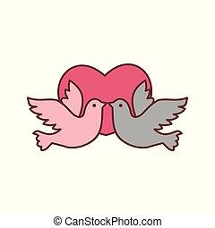 Dove Bird Love Vector Illustration Graphic