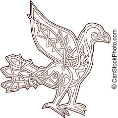 Dove Celtic Knotwork - Celtic Knotwork or pseudo-Celtic...