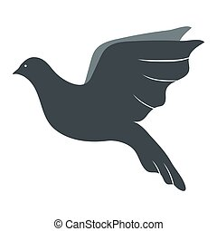 Dove Flat Icon Isolated on White Background. Vector Illustration.