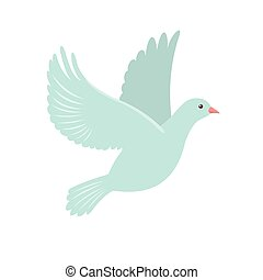 Dove Icon in flat style.