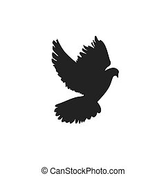 dove. icon. vector illustration