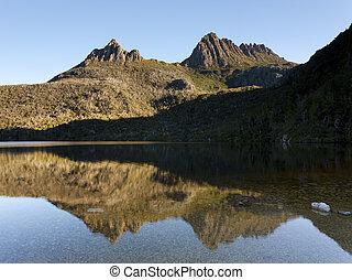 Dove Lake and Cradle Mountain from the Dove Lake Circuit, Tasmania, Australia