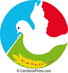 Dove of Peace - A white dove is a symbol of peace on earth.