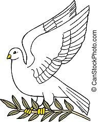 Dove of peace icon. Peace concept. Vector Illustration.