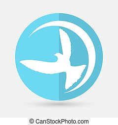 Dove of Peace illustration on a white background