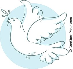 Dove of Peace - Peace dove with olive branch