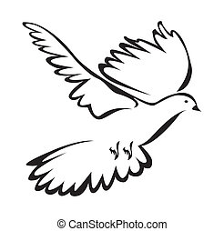 dove of peace Simple Symbol