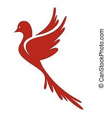 Dove of Peace vector icon