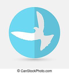 Dove of Peace Vector illustration on a white background