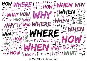 dove, parola, come, -, chi, quando, fondo, bianco, cosa, perché, nuvola