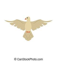 Dove peace bird cartoon