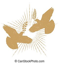 Dove peace silhouette
