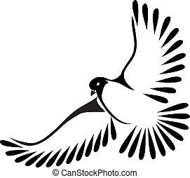 Dove  stylized