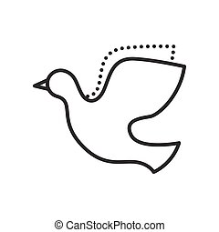 Dove. Vector flat icon.
