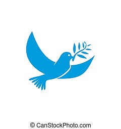 Dove vector. Isolated blue icon