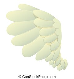 Dove wing icon, cartoon style