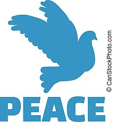 Dove with peace word