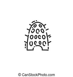 dovecote, Egyptian house for pigeons flat outline icon of ...