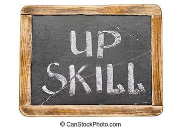 dovednost, up, zarámovaný