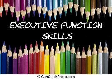 dovednosti, výkonný, fungovat