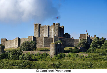 Dover castle - Mighty castle on the hill above Dover, United...