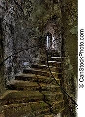Dover Castle spiral staircase