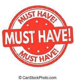 dovere, possedere, segno, o, francobollo