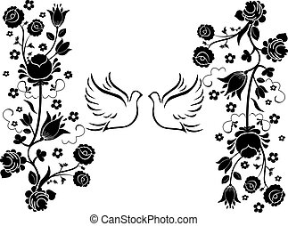 doves with flourishes 3