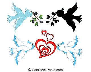 Doves,vector