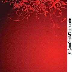 dovolená, červené šaty grafické pozadí