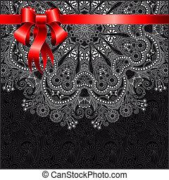 dovolená, grafické pozadí, s, červené šaty lem, eps10