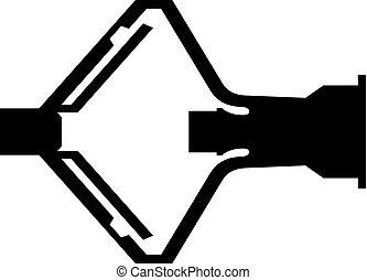 Dowel nail fastener icon
