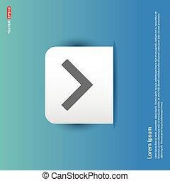 Down Arrow Icon - Blue Sticker button