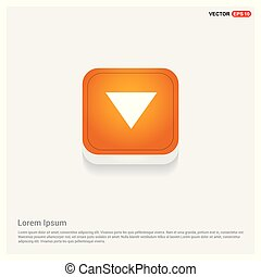 Down Arrow Icon Orange Abstract Web Button