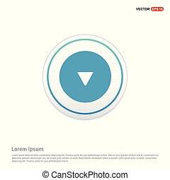 Down Arrow Icon - white circle button