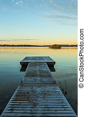 Down by the long wooden jetty