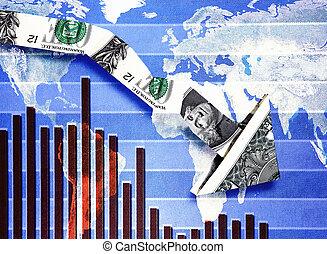 Down dollar economic chart