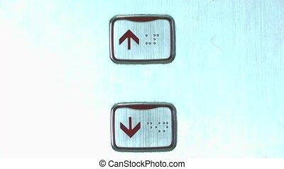 down elevator button