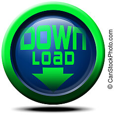 Down Load - Download three-dimensional image blue and green