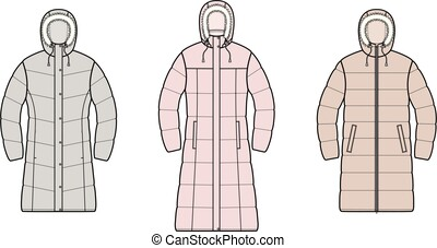 Down long coat
