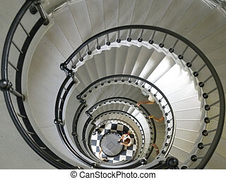 Down - Looking down a staircase