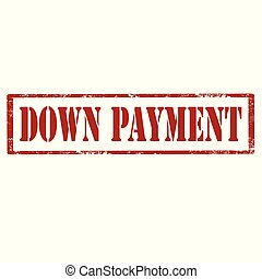 Grunge rubber stamp with text Down Payment, vector illustration