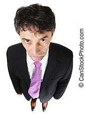 Down-trodden businessman