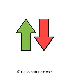 down up load data internet flat line style illustration