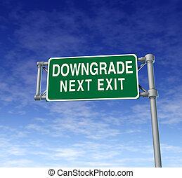 downgrade, companhia